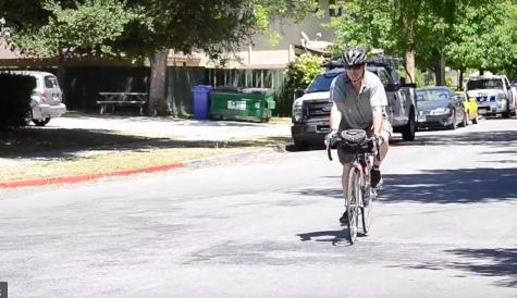 English teacher Charles Shuttleworth bikes across America on behalf of MS research