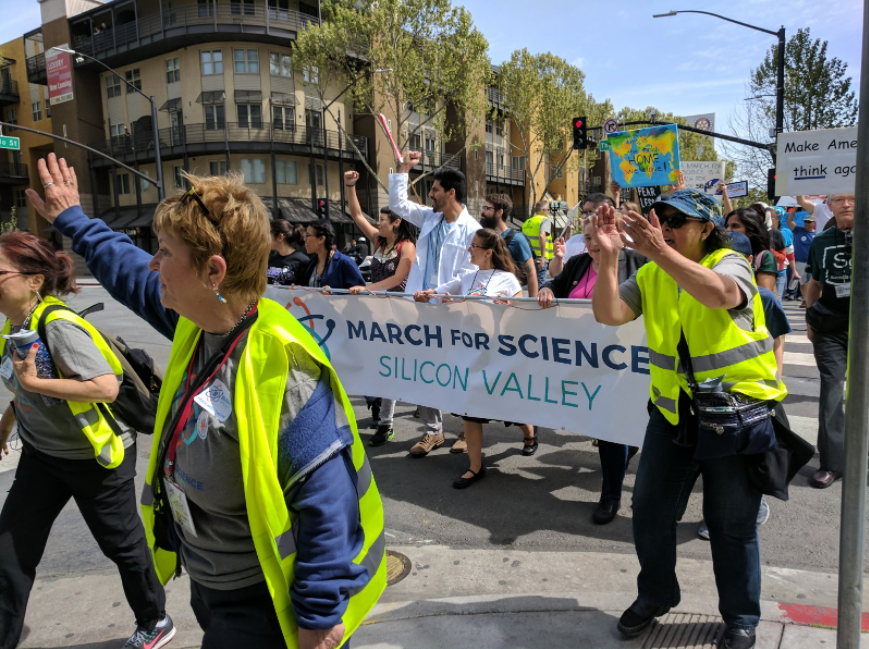 Protestors+participating+in+the+March+for+Science+in+San+Jose%2C+held+last+month%2C+carry+signs+and+chant+slogans.+Americans+have+actively+campaigned+for+better+awareness+of+climate+change+in+the+wake+of+Trump%27s+announcements+of+his+lack+of+support+for+the+EPA.