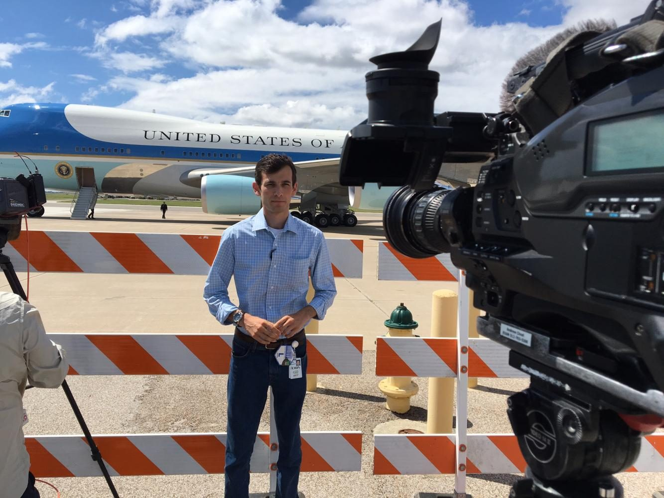 Capitol Correspondent at Nexstar Austin Bureau Wes Rapaport reports on President Trumps visit to Corpus Christi at the Corpus Christi International Airport. Trump arrived to meet with local and state officials on Tuesday.