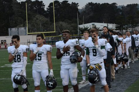 Undefeated varsity football beats Marina High in sixth win of season