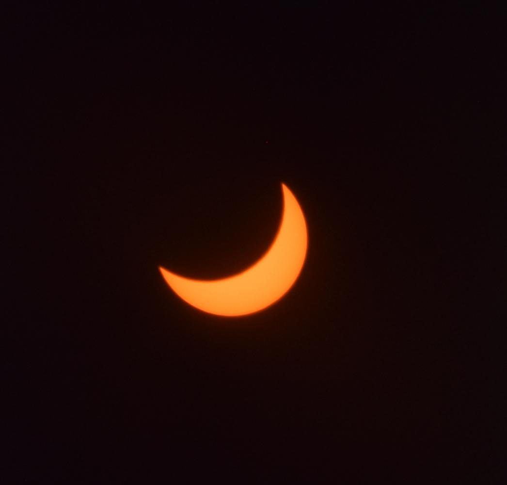 A total solar eclipse in August 2017, as viewed from California. California was not in its path of totality.