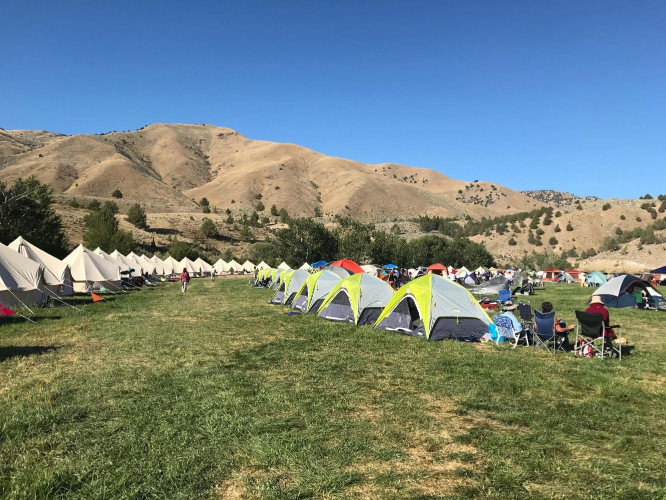 Eclipse tents at an eclipse event in Oregon. Residents and visitors allike gathered to see a total eclipse.