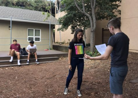 Fall play cast gathers for first rehearsal after auditions and callbacks conclude