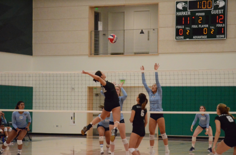 Varsity girls' volleyball loses against Valley Christian High School