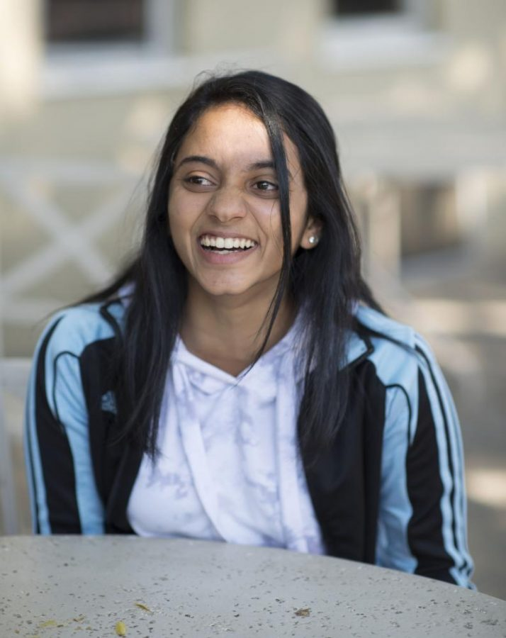 """""""I just have a different outlook on the world,"""" Meena Gudapati (12) said. """"I'm probably not the only one who thinks this way, but I don't really think anything is a big deal. Tests aren't a big deal; the ACT isn't a big deal; college isn't a big deal. It's all fine. The world is so big. Nothing matters. It's all for fun, you know? I don't really get worried about those things. They're all just little bits and pieces, and they don't actually ruin the world or anything."""""""