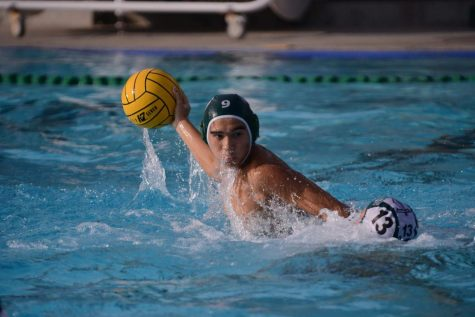 Junior Bobby Bloomquist looks for an opportunity to score against Palo Alto High School. He successfully scored one goal in the third quarter.