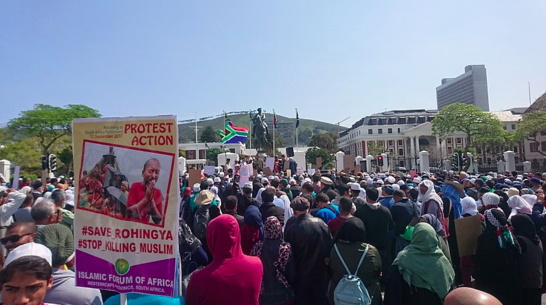 A rally was held in Cape Town, South Africa last month to call for the protection of Rohingya Muslims in Myanmar. Myanmar's military has engaged in a campaign of ethnic cleansing against their Rohingya Muslim population.