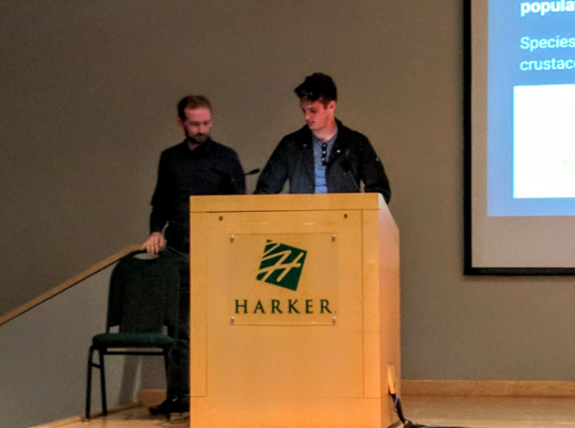 Mitchell Kole (12) presents a song he wrote based on his experiences on the trip to Alaska. To invoke feelings of the unexpected, Mitchell used a regular chord progression and scattered surprising notes throughout his song.