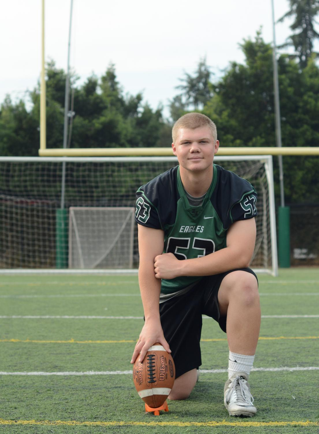 """""""Even though the kicker doesn't get much respect, every team needs a kicker,"""" Dominic Cea (12) said. """"You can be a hero or a villain. I thrive on the pressure—I like to be in the crunch time situations. It gives me a rush of adrenaline, and I like to try to be the hero. Everyone has their role to play, whether it's on the football field or in the workplace. I think wherever you go, there are always going to be roles that are bigger and everyone cares about, but there's always going to be people in the shadows doing a lot of work that people don't see."""""""