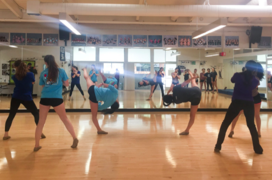Varsity Girls Dance, compiled of students from all different grades, split into two groups and practiced for their Tree Lighting performance. They've been practicing for almost a month.