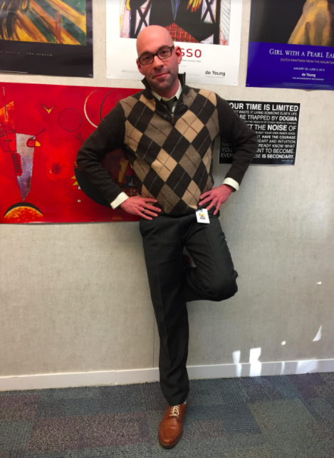 English teacher Ohad Paran poses for the camera each day of the week. No matter what you choose to wear, be yourself, he said.