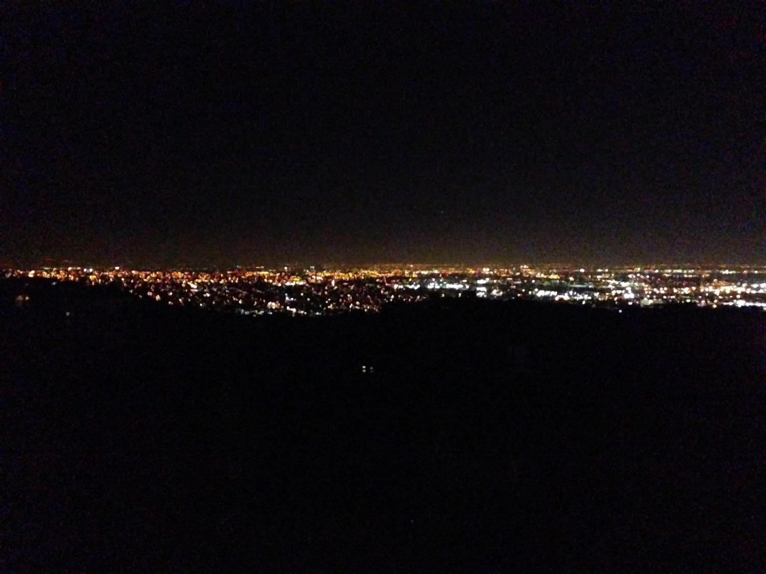 The Milpitas skyline after dark. A new study has discovered that the global light pollution problem is worsening.