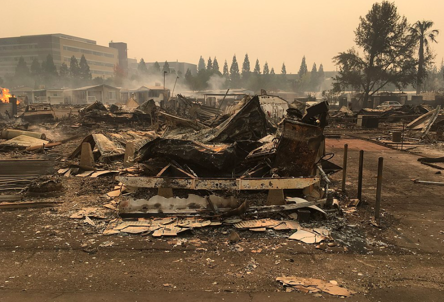 The+aftermath+of+the+Tubbs+Fire+in+Northern+California+in+October.+The+Tubbs+fire+was+one+of+the+largest+wildfires+among+the+eight+that+killed+42+individuals+this+October.