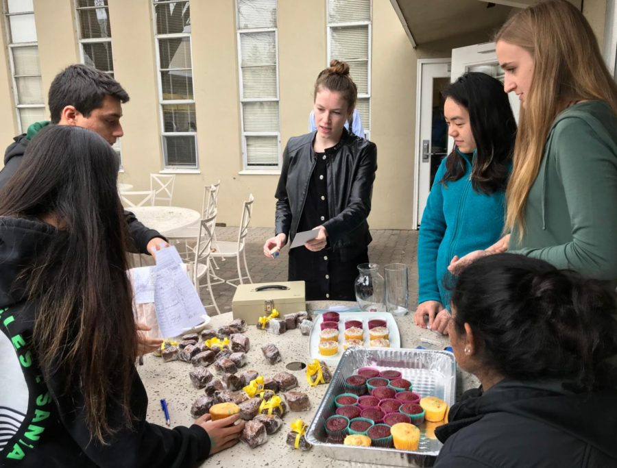 Amnesty International members manage baked goods sales outside Manzanita. The club also invited guest speaker and human rights advocate Amy Rao to speak about the human rights problems society faces today and how different organizations move to solve them on Tuesday during long lunch.