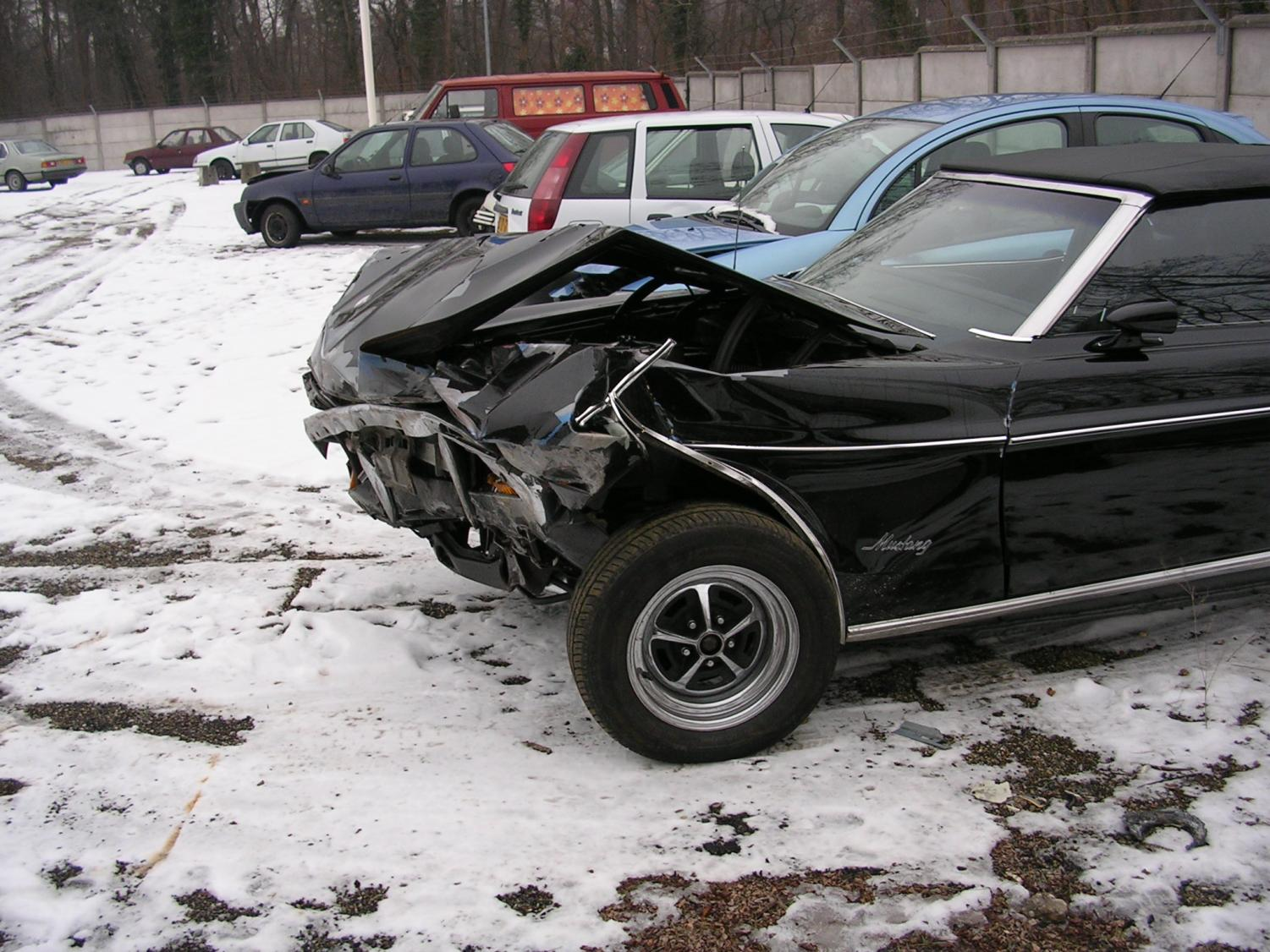 At the end of fifth grade, my family's car was hit by another on the freeway. No injuries were apparent at the time.