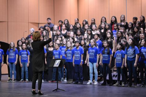Upper school choirs perform at first United Voices held in Rothschild Performing Arts Center