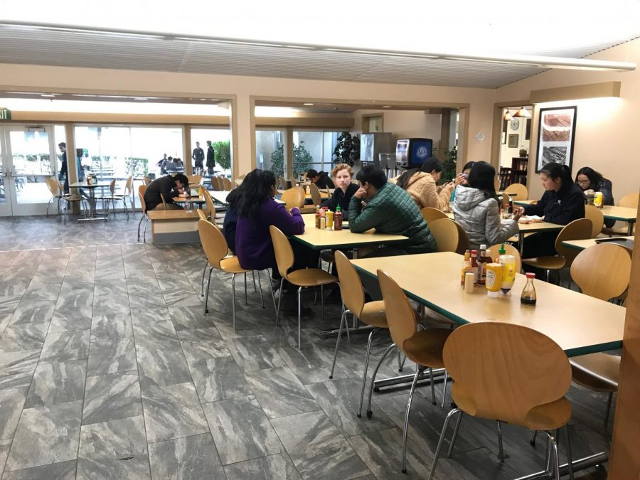 The lunchroom tables were moved to the right side of Manzanita before winter break. The rearrangement was intended to decrease lunchroom congestion during lunch.
