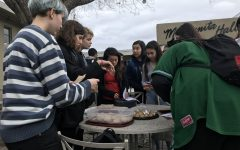 GSA sells baked goods along with rainbow bracelets after school on Tuesday. The first 600 dollars made will go to Outlet, a charity that offers counseling to LGBTQ+ youth, and the rest will go to Casa Ruby, a charity that gives temporary shelter and food to the most vulnerable of the LGBTQ+ community.