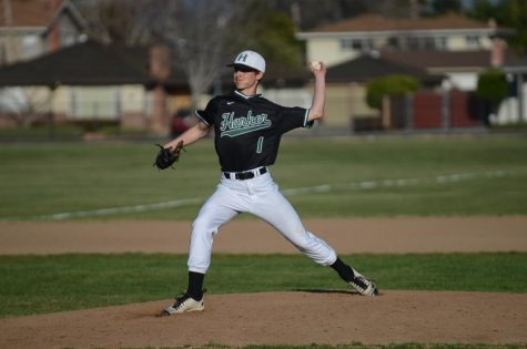 Anthony Meissner (11) pitches against Prospect High School. The baseball team won 3-1.