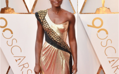 Lupita Nyong'o presents the 2018 Oscars. She and Kumail Nanjiana made political statements by introducing themselves as immigrants and speaking about their dreams to reach Hollywood.