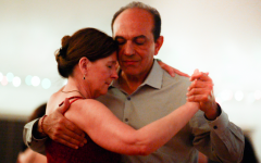 "Stahl dances the evening away with tango partner Sam Safadi. ""If you want something challenging, then challenge yourself with Tango,"" Stahl said."