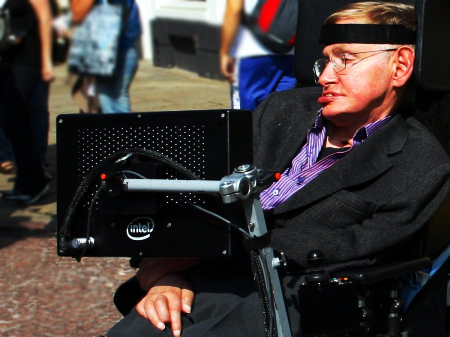 Hawking gives a lecture for NASAs 50th anniversary in 2008. He died on Mar. 14 at age 76 in his home in Cambridge, England.