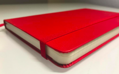 Memoir Monday: A red leather notebook
