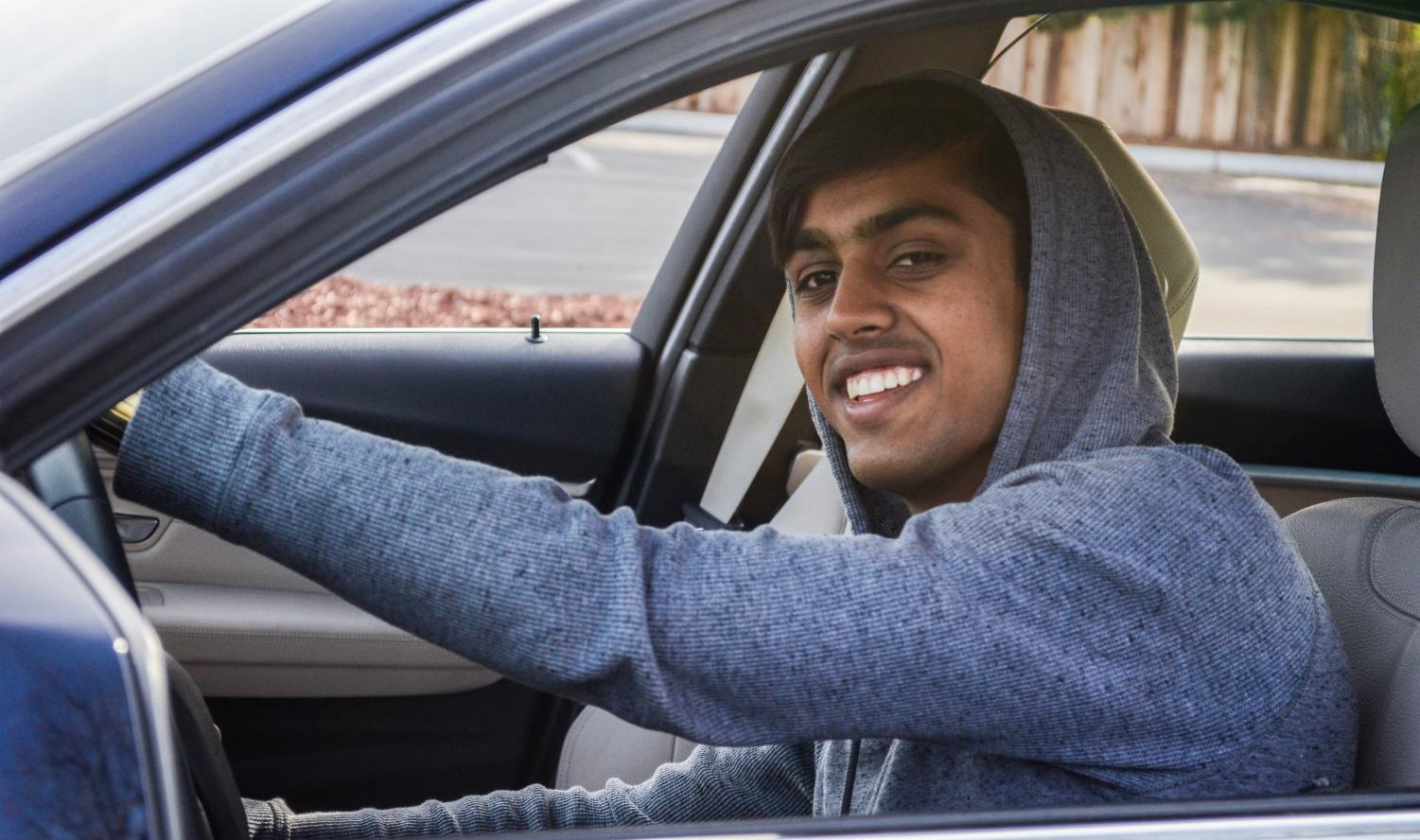 """First, I start at my house,"" Sparsh Chauhan (12) said. ""Then, I turn on Saratoga, and it's always crowded with traffic and stuff. That's when I'm setting the music, checking the tire pressure, the gas. After downtown, the road gets smooth, which is when I put the windows down. I go all the way down until there's a dip and then I go back. Even when I have stuff to do, I drive that same route every day. I don't have to take directions. I know all the traffic times; I know exactly where I'm going."""