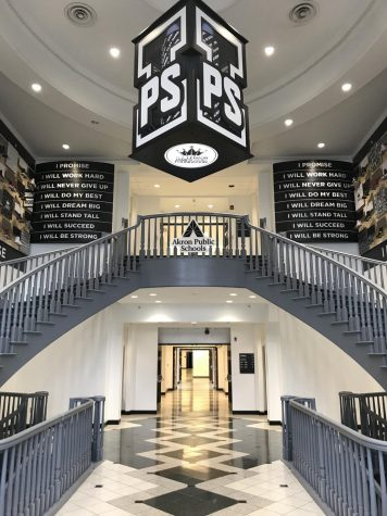 The interior of the I Promise School in Akron, OH. The school was created through a partnership between the LeBron James Family Foundation and the Akron public school district.