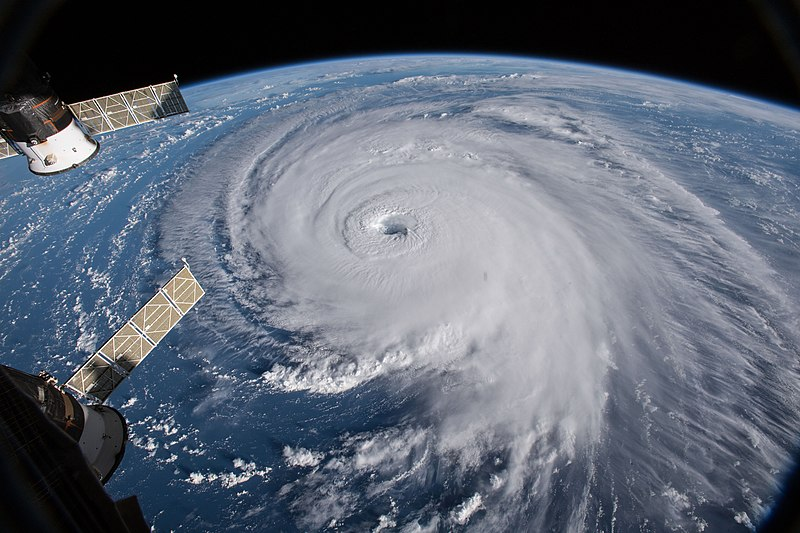 Hurricane+Florence+is+seen+from+the+International+Space+Station+on+Sept.+12%2C+when+it+was+classified+as+a+Category+3+hurricane.+The+hurricane+has+led+to+at+least+48+deaths+in+North+Carolina%2C+South+Carolina%2C+Florida+and+Virginia%2C+many+due+to+the+widespread+storms+and+flooding+it+caused.