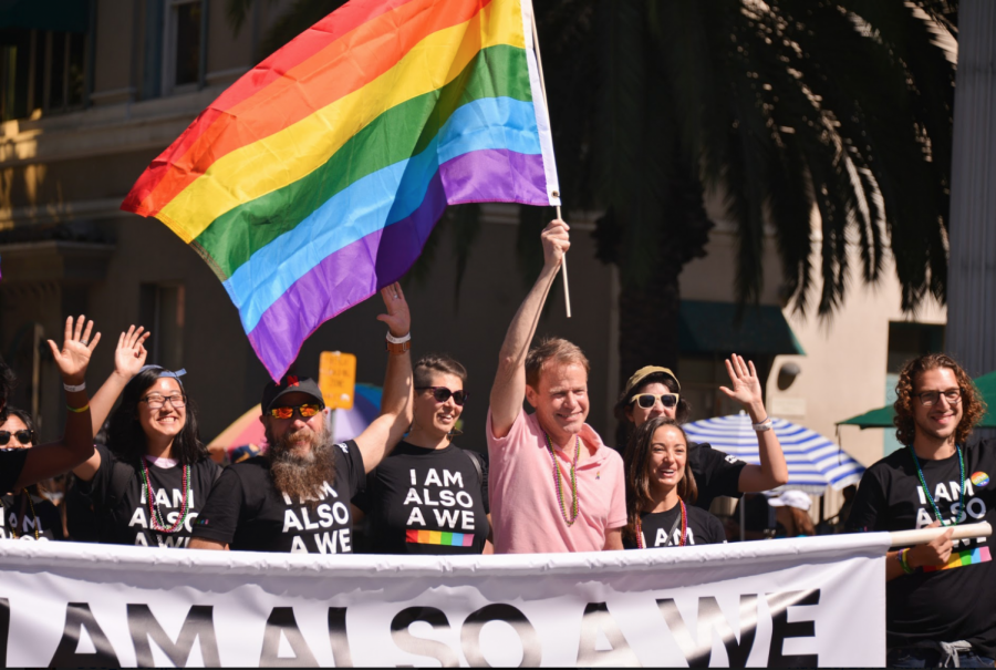 A+group+of+activists+march+down+Market+Street+at+the+Silicon+Valley+Pride+parade+in+San+Jose.+Silicon+Valley+Pride+took+place+from+Aug.+25+to+26%2C+with+the+Pride+parade+taking+place+on+the+26th.