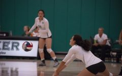 Varsity girls volleyball defeats Westmont in four sets