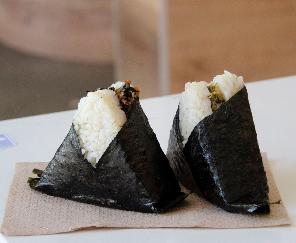 Onigiri filings range from eight seafood options, to three meat options, to a eight vegetarian options. The sets of onigiri range from around $7.25 to $12.15.