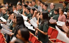 Upper, middle, lower school choirs gather for first United Voices workshop