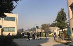 Hazy air lingers over campus as smoke from the Camp Fire north of Sacramento travelled throughout the Bay Area today. The current Air Quality Index is 152, which is categorized as
