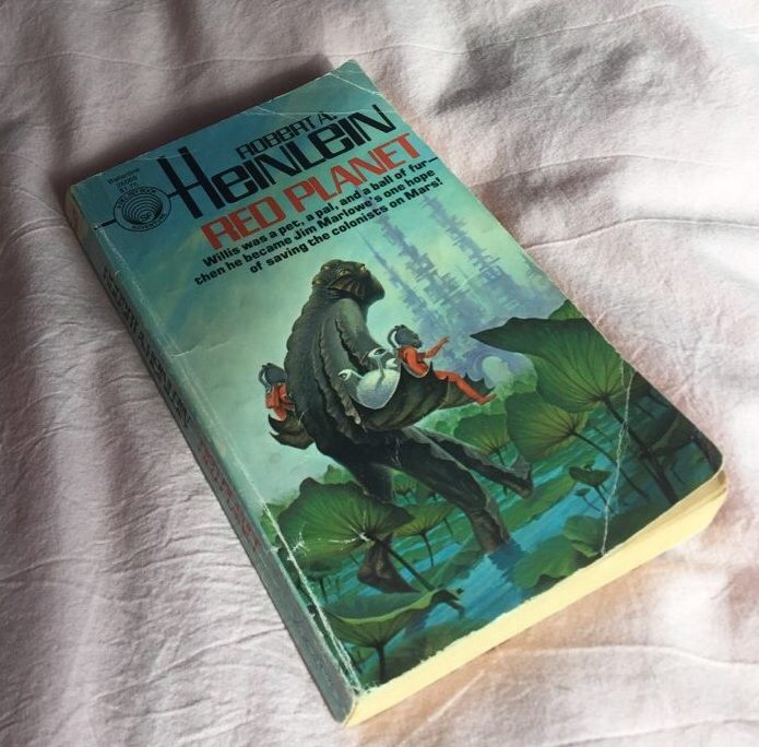 Delaney Logue's (12) pocket-sized Red Planet by Robert A. Heinlein is more than just a book. Although the text is faded and the pages are yellowed from years of use, Red Planet harbors priceless memories from her childhood.
