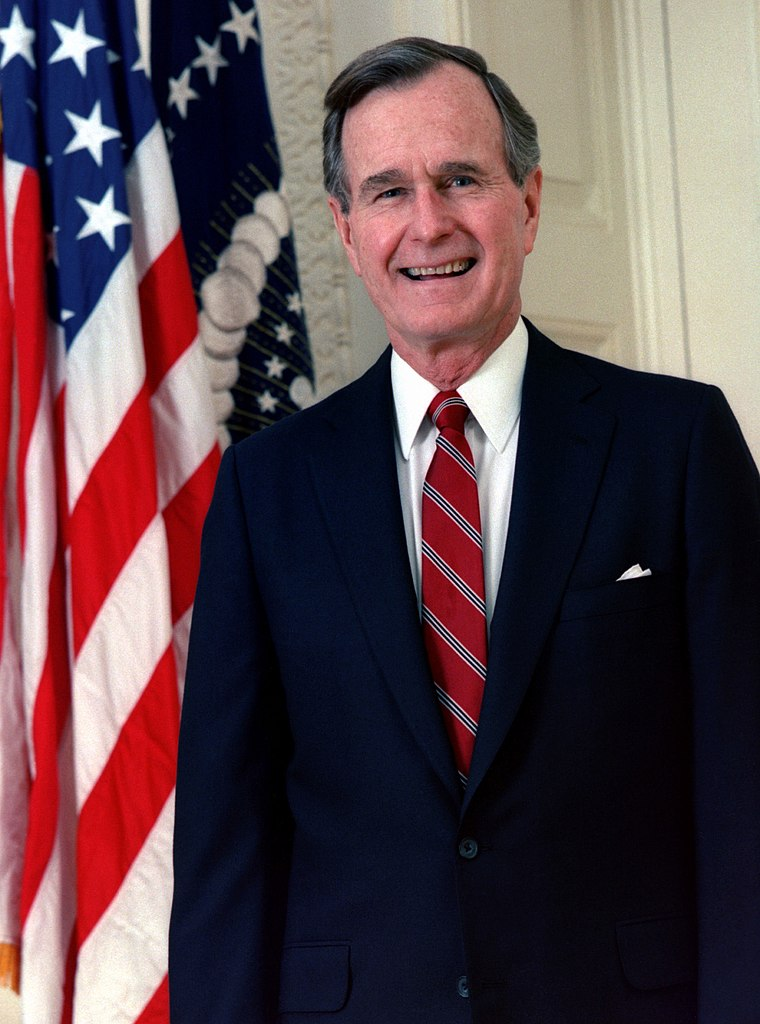 Official portrait of former President George H. W. Bush in 1989.