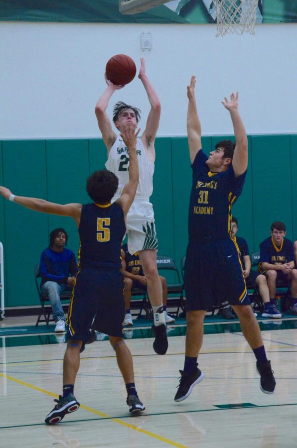Jack Connors hits a mid-range jumper in the second quarter. The Eagles travel to Pinewood next Tuesday, with their matchup against the 9-6 Panthers scheduled to begin at 6:30 p.m.
