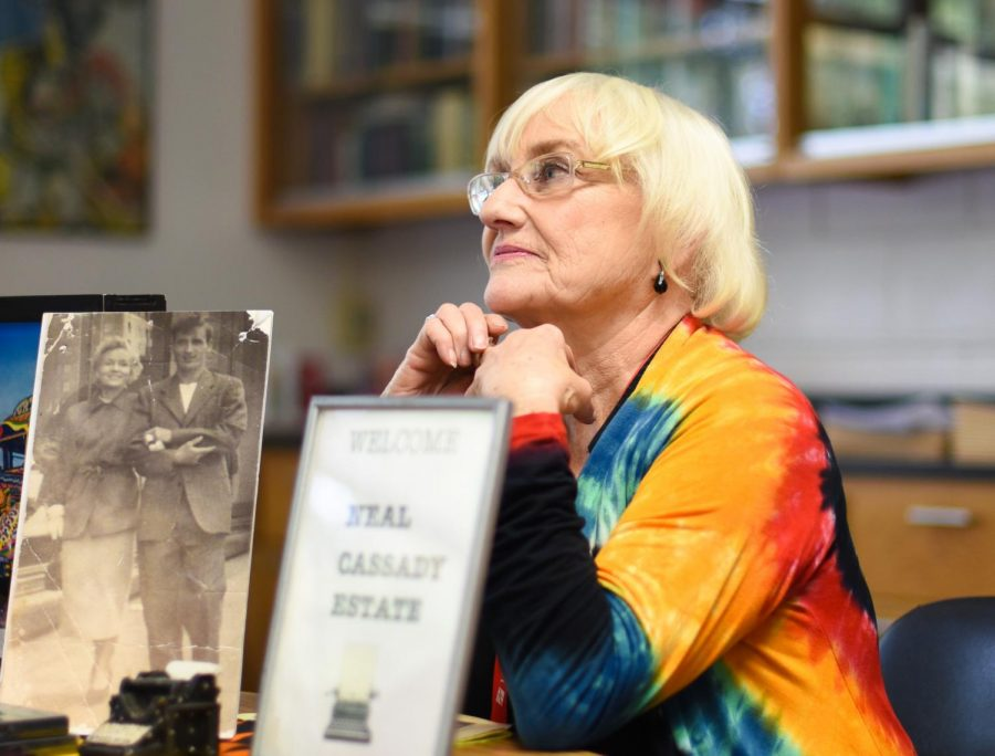 Jami Cassady Ratto, who is Beat Generation author Neal Cassady's daughter reminisces about her childhood memories, telling students in the Beat Generation English elective about her recollections of her father.