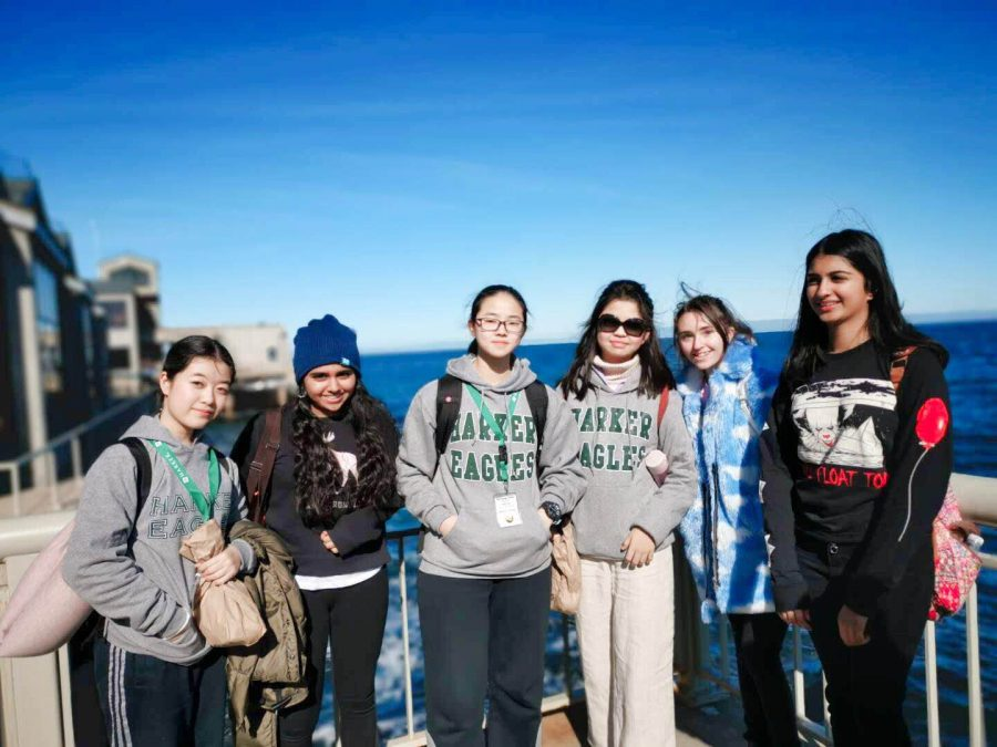 7th+and+8th+graders+from+Harker%27s+middle+school+pose+for+a+photo+with+their+foreign+exchange+buddies+from+Shanghai+World+Foreign+Language+Academy+while+sightseeing+in+San+Francisco.