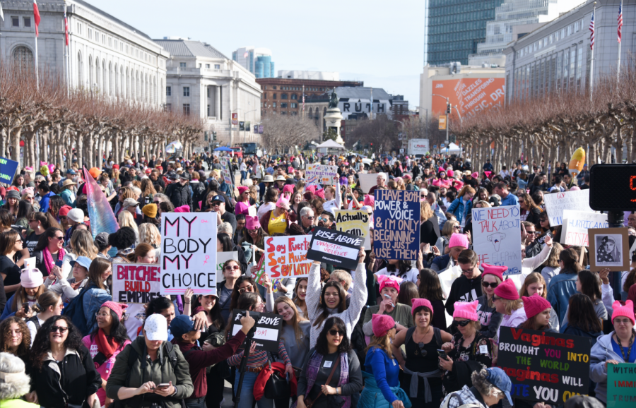 Third year of Women's March protests takes up variety of current issues