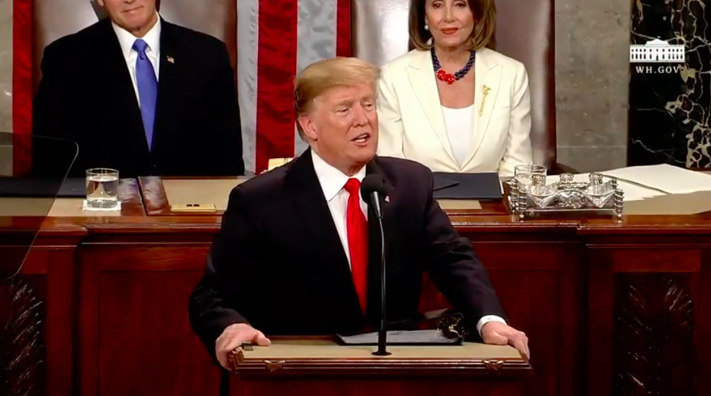 President Trump delivers the  address at the House of Representatives today. Abrams gave the formal response after the president's address.