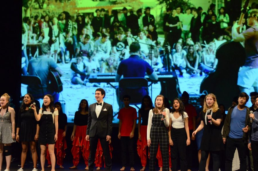 The+performers+at+Hoscars+close+the+show+with+a+rendition+of+%22Seasons+of+Love%22+from+the+musical+%22Rent%22+to+celebrate+the+125th+anniversary+of+the+Harker+School.