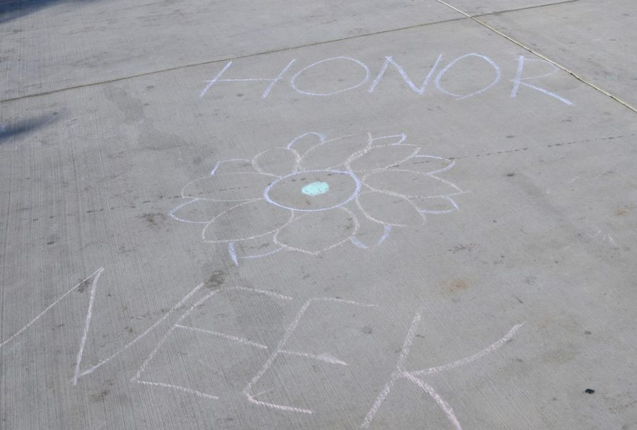 On+Thursday+of+Honor+Week%2C+chalk+was+available+on+the+cement+outside+the+RPAC+and+Athletic+Center%2C+where+students+could+write+messages+regarding+honesty+on+the+ground.+On+the+week+of+Feb.+19+to+Feb.+22%2C+each+day+of+the+four-day+school+week+was+dedicated+to+one+of+the+four+Harker+pillars%3A+respect%2C+acceptance%2C+honesty+and+environment.+%0A%0A%0A
