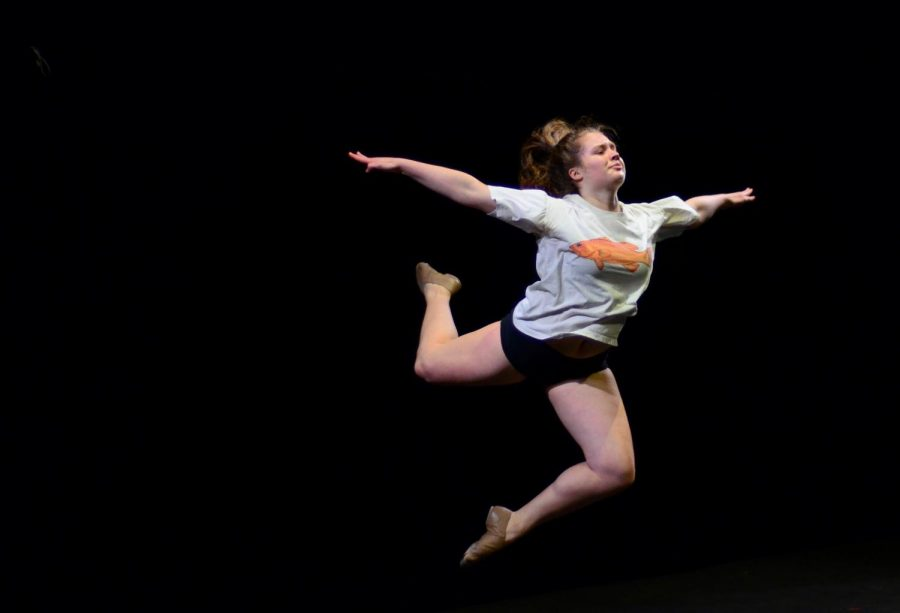 Charlotte+Blanc+%2811%29+executed+a+stag+leap+with+her+arms+out+while+performing+a+self+choreographed+jazz-contemporary+piece+for+Hoscars.+In+just+14+acts+and+one+hour%2C+around+80+student+performers+sang%2C+danced+and+magicked+their+way+into+the+hearts+and+memories+of+the+Harker+community+during+Hoscars+on+March+8.