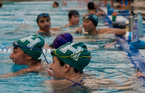 Harker swimmers attend practice on Mar. 6. After a strong performance at the Palo Alto Invitational on Saturday, Mar 2, the swimming team continues training for their next tournament on Mar. 14.