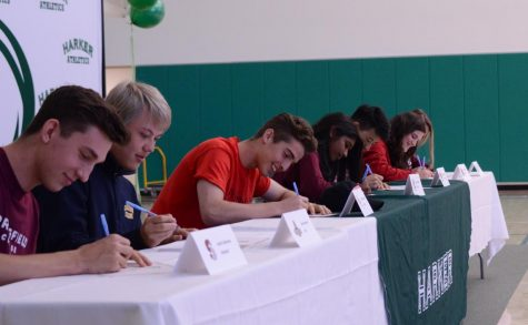 7 Seniors Commit to College Athletics During Signing Day