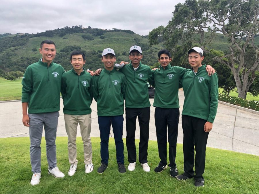 From left to right, Bryan Zhang (10), Bowen Yin (10), Gabriel Yang (10), Ashwin Rammohan (12), Jaiman Bhagat (11) and Bradley Lu (12) pose for a photo at the CCS Regionals on May 7. The team placed fourth overall at regionals.