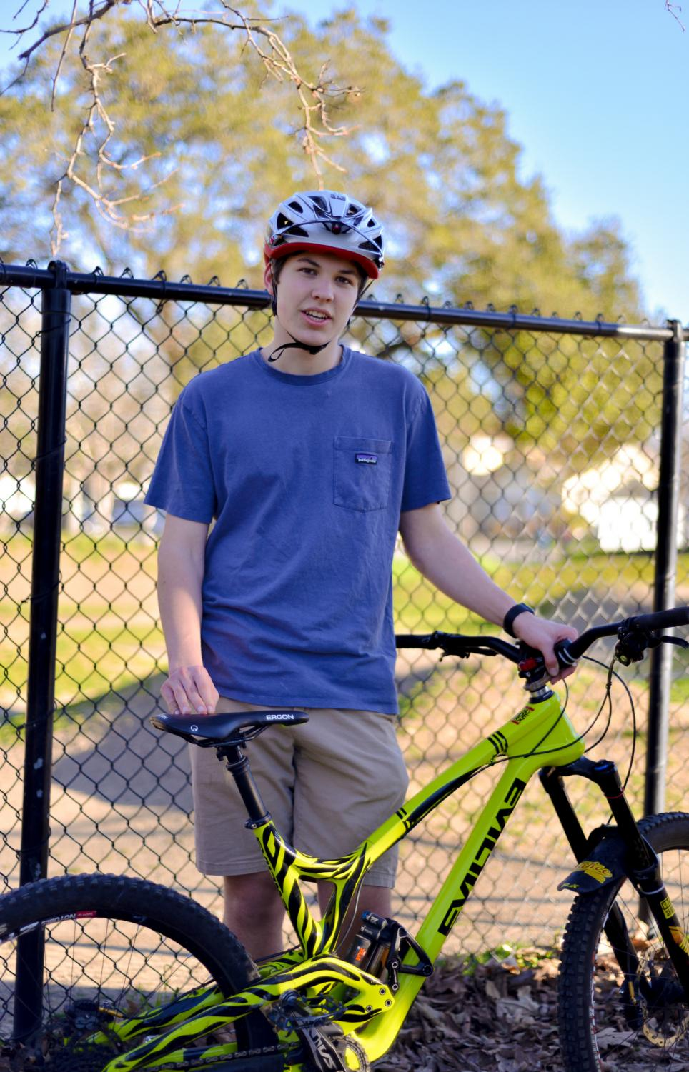 """For me, mountain biking is about the experience and the community and people you hang out with. I don't dwell much on what place I finish, but more on improving my time, meeting new people, hanging out with my friends,"" Chris Leafstrand (12) said."