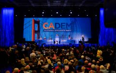 Democrats gather in the Moscone Center in San Francisco this afternoon for this year's California Democratic Party Convention, whose theme is
